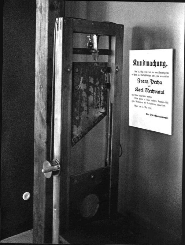 Das Fallbeil im Wiener Landesgericht