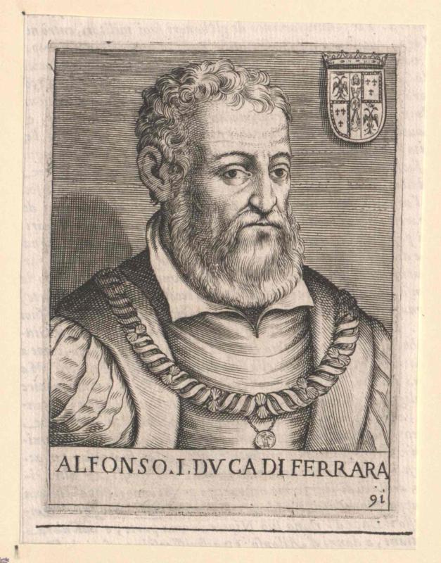 Alfons I. d' Este, Herzog von Modena und Ferrara