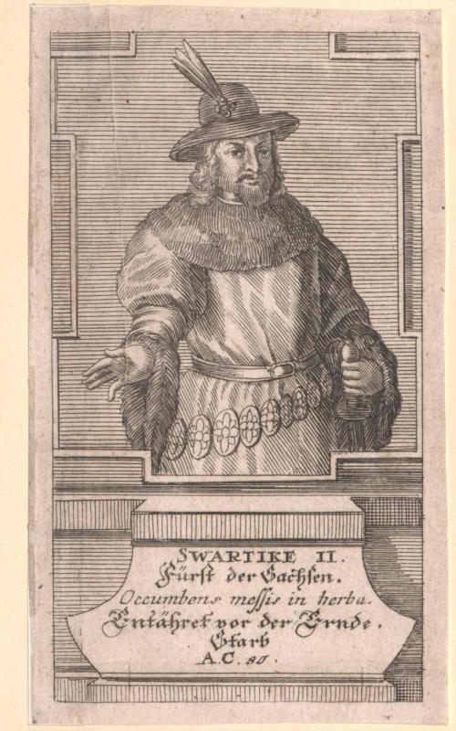 Svarticke, Fürst der Sachsen