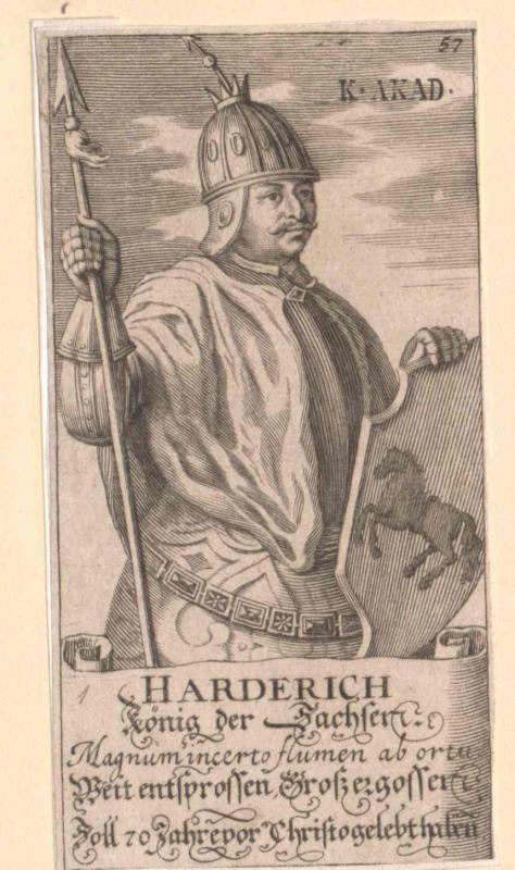 Harderich, König der Sachsen