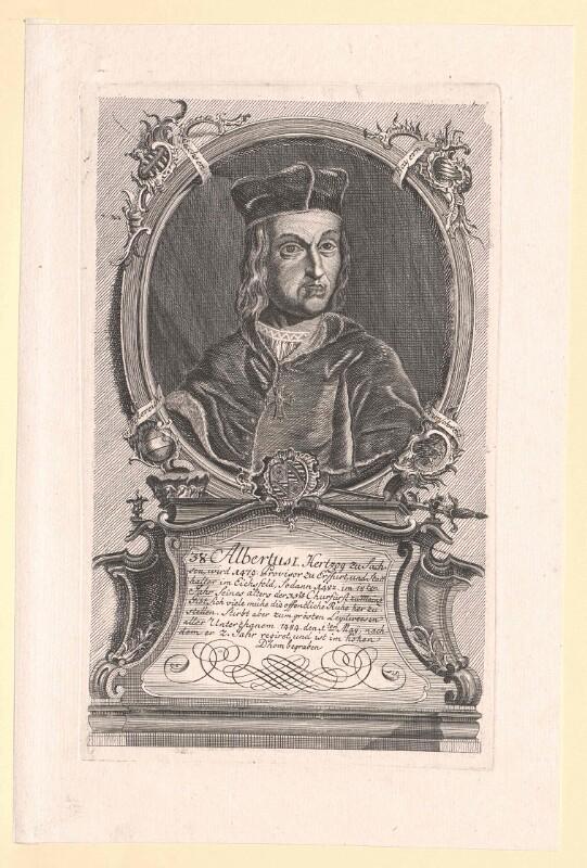 Albrecht, Herzog zu Sachsen Kurfürst von Mainz
