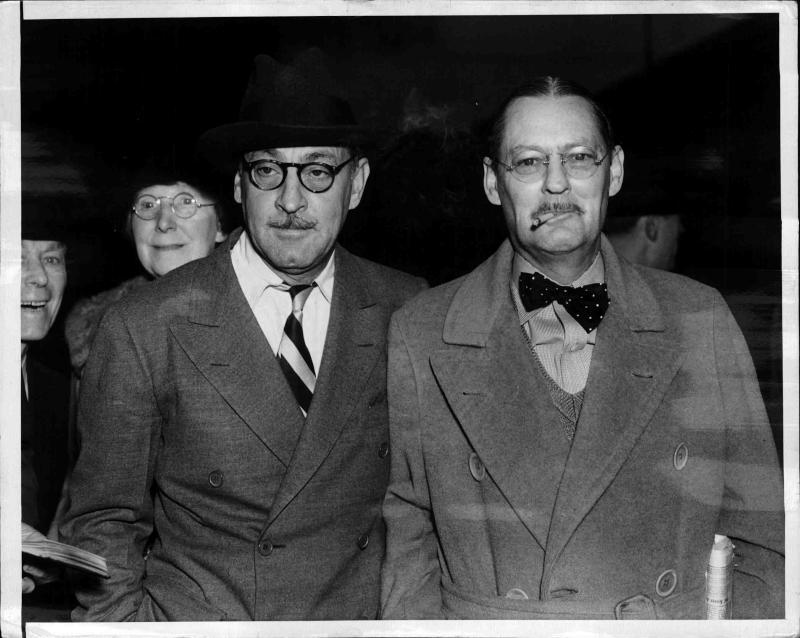 John Barrymore, Schauspieler, mit seinem Bruder Lionel