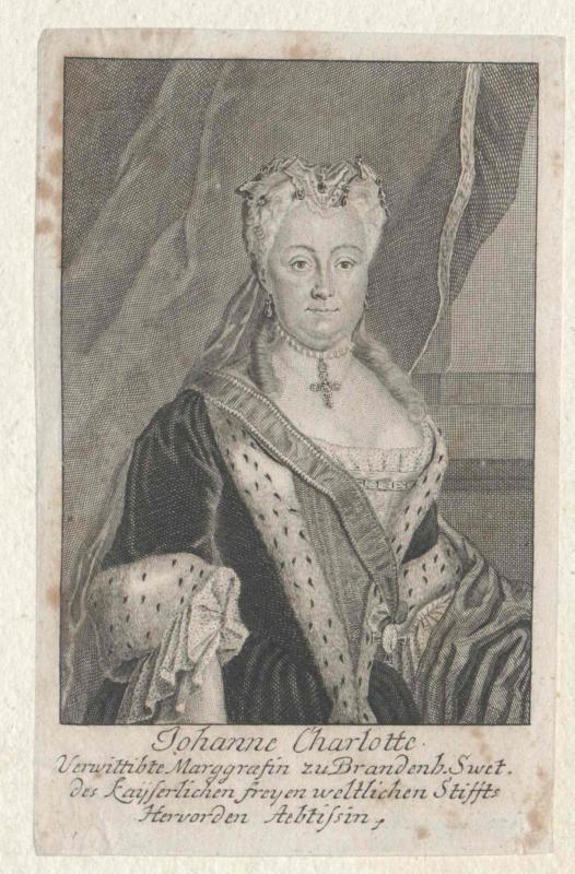 Anhalt-Dessau, Johanna Charlotte Prinzessin