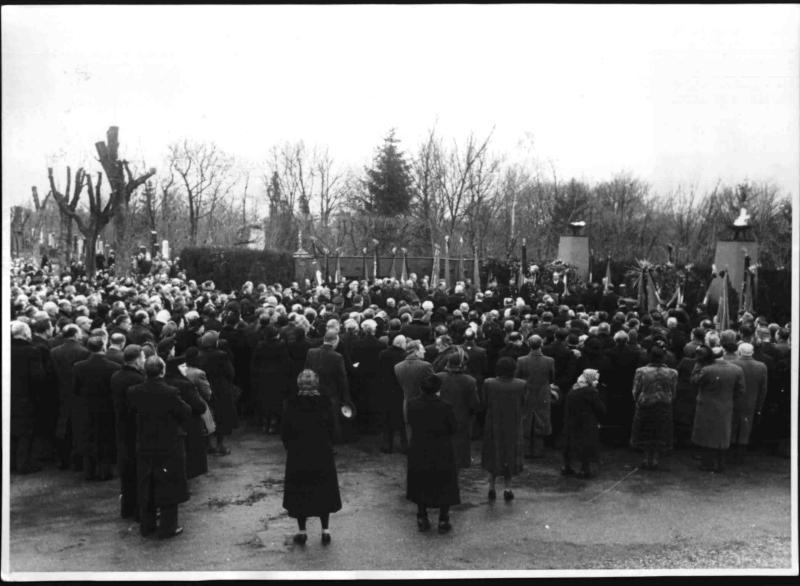 Beisetzung der Urne von Karl Seitz
