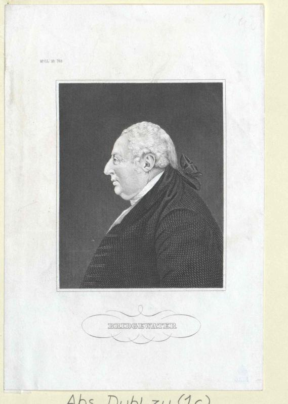 Bridgewater, Francis Egerton Duke