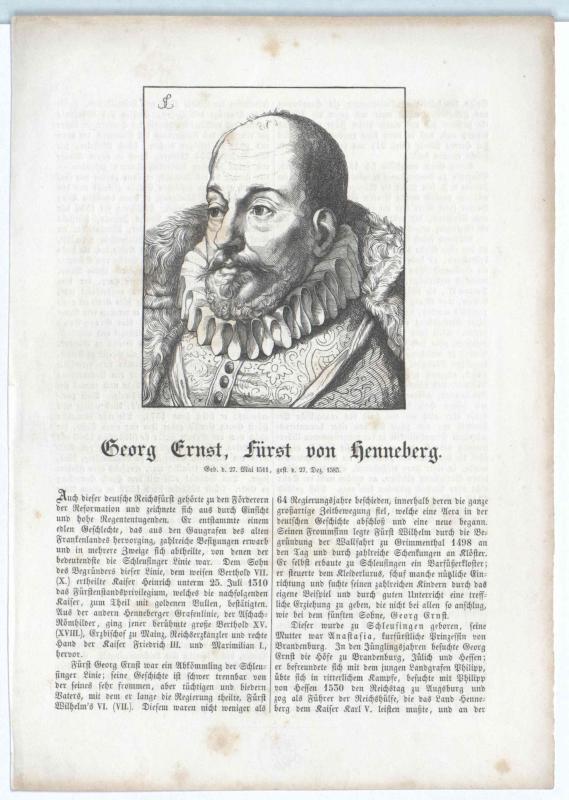 Henneberg-Schleusingen, Georg Ernst Graf