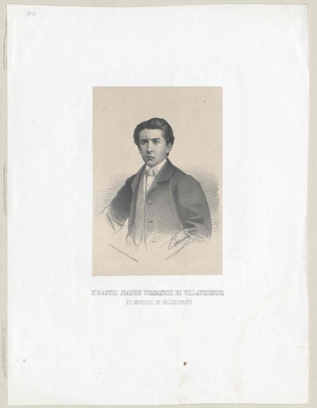 Fernández de Villavicencio, 13. Marqués de Vallecerrato, Manuel Joaquín