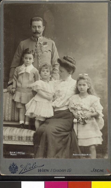 Bildnis Franz Ferdinand, Erzherzog von Österreich-Este, mit Familie