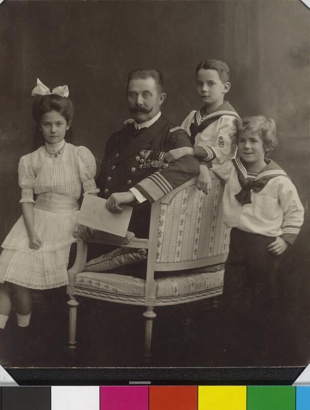 Bildnis Franz Ferdinand, Erzherzog von Österreich-Este, mit seinen Kindern
