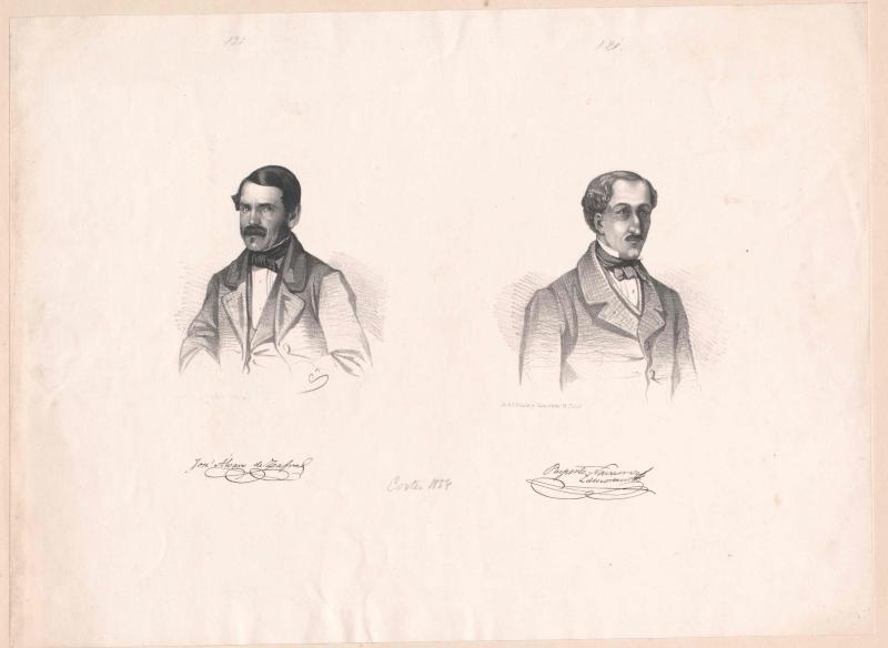 Bildnisse José Àlvaro de Zafra (1815-1859) und Ruperto Navarro Zamorano (1813-)