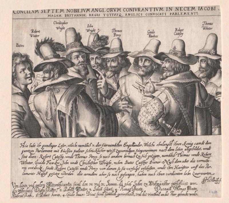 Die Verschwörer des Gunpowder Plots