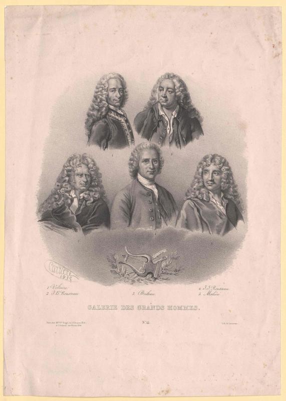 Gruppenbild Französische Schriftsteller und Philosophen