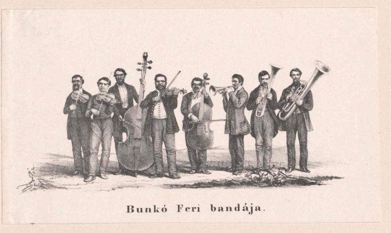 Gruppenbild Achtköpfige ungarische Musikkapelle