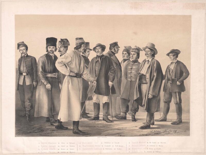 Gruppenbild Abgesandte zum Reichstag von Kremsier 1849