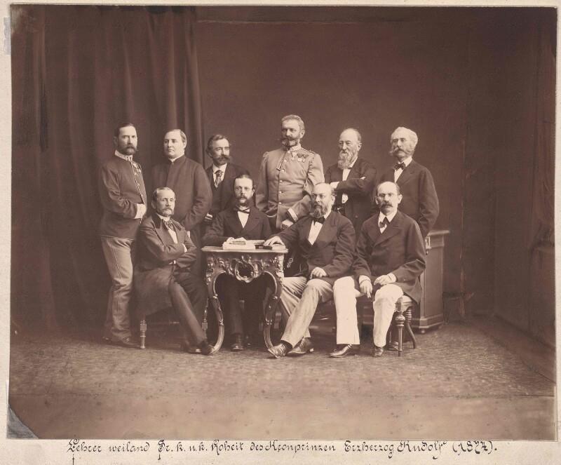 Gruppenbild Die Lehrer des Kronprinzen Rudolf