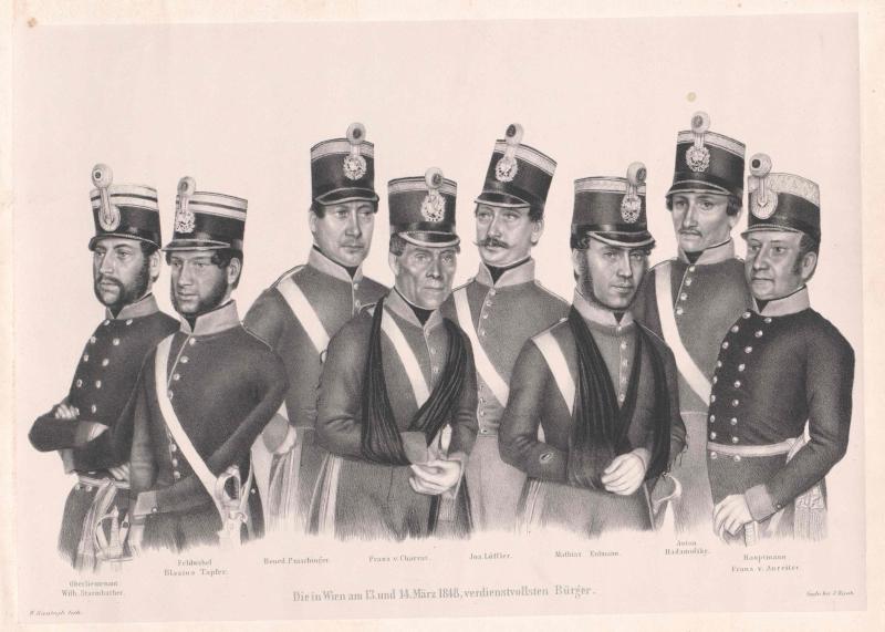 """Gruppenbild """"Die in Wien am 13. und 14. März 1848 verdienstvollsten Bürger"""""""