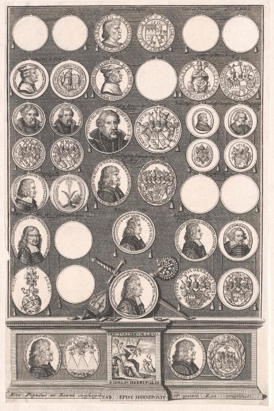 Gruppenbild Bischöfe von Würzburg Medaillenbildnisse