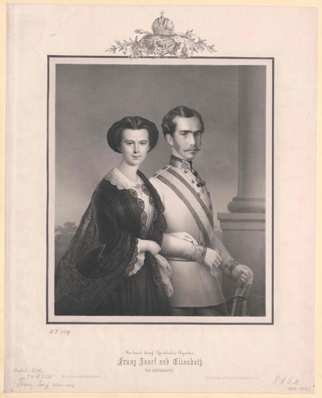 Bildnis Kaiser Franz Joseph I. mit Gemahlin Kaiserin Elisabeth