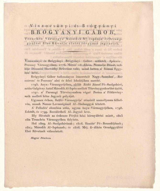 Brógyányi, Gábor