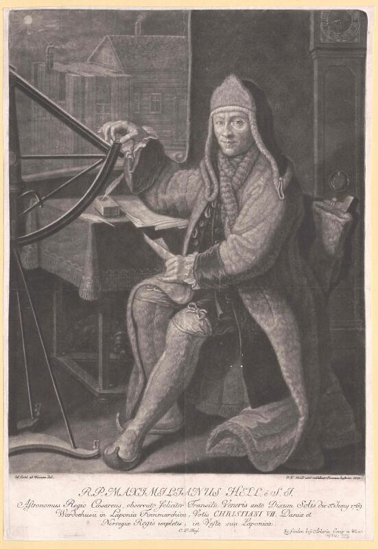 Bildnis des Astronomen Maximilian Hell
