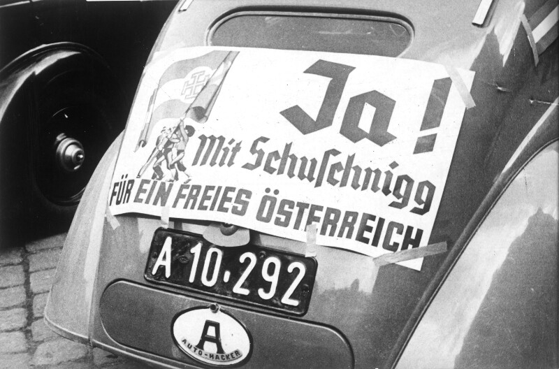 Propaganda für die von Schuschnigg geplante Volksbefragung
