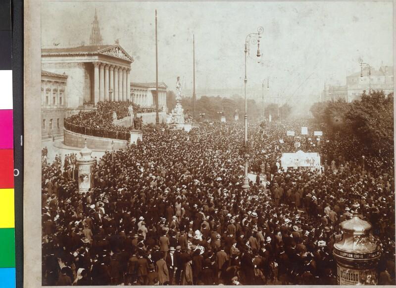 Teuerungsdemonstration in Wien