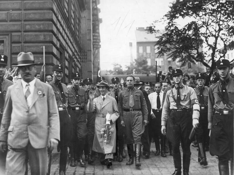 Ankunft von Joseph Goebbels in Wien