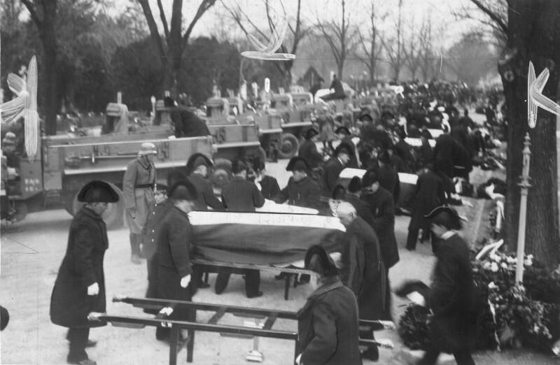 Trauerfeier für die Opfer der Exekutive bei den Februarkämpfen