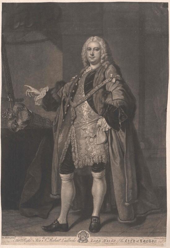 Bildnis Robert Ladbroke, Bürgermeister von London