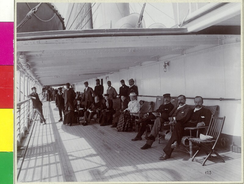 "An Bord der R.M.S. ""Empress of China"", Pacific Ocean"