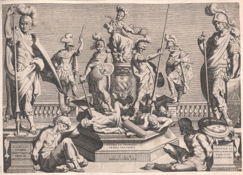 Allegorie auf sechs siegreiche Feldherren aus dem Hause Orsini als Kämpfer für die Freiheit Roms.