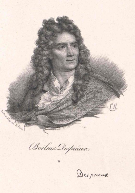 Boileau Despreaux. Lith. de Delpech