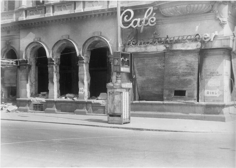Zerstörungen am Café Fenstergucker