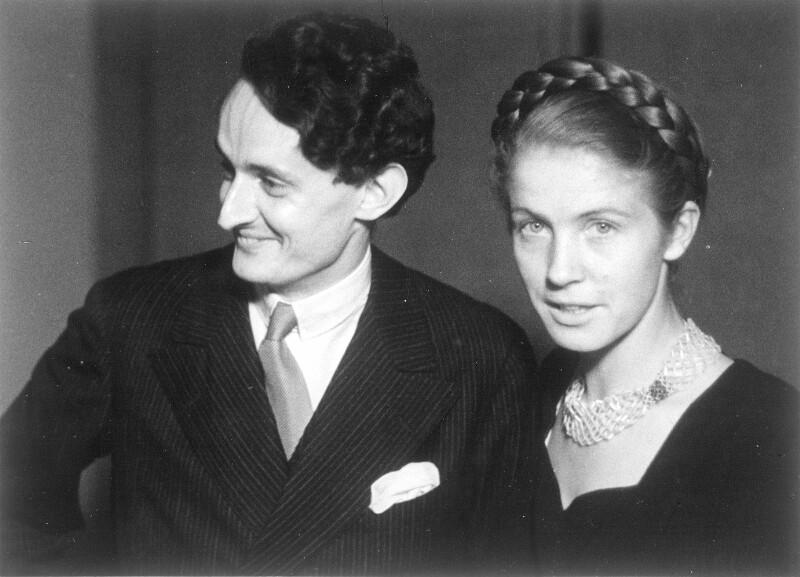 Gottfried von Einem mit seiner Frau