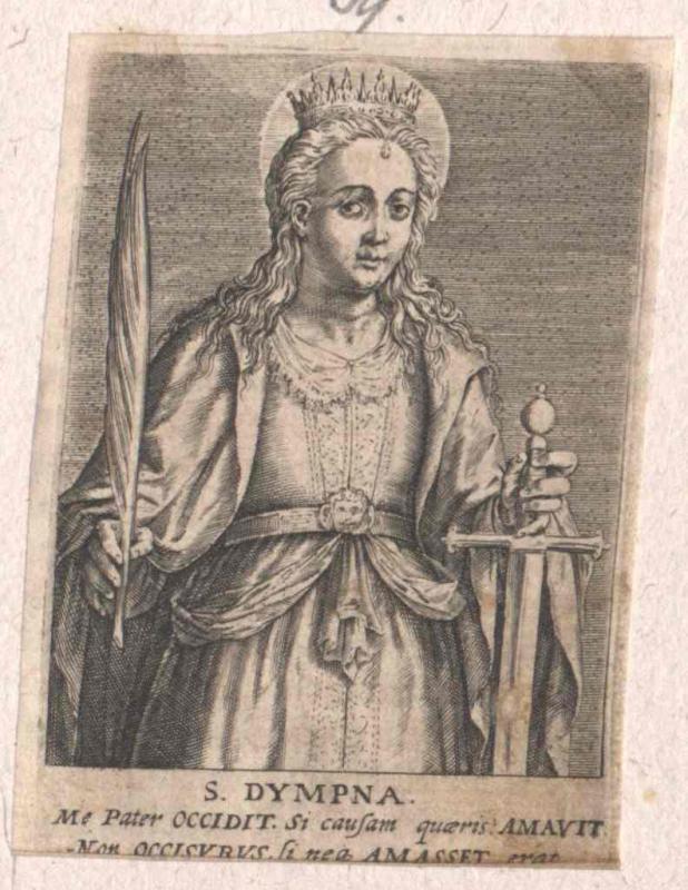 Dymphna von Gheel, Heilige