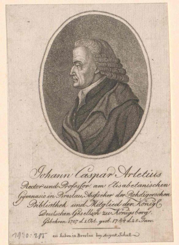 Arletius, Johann Kaspar