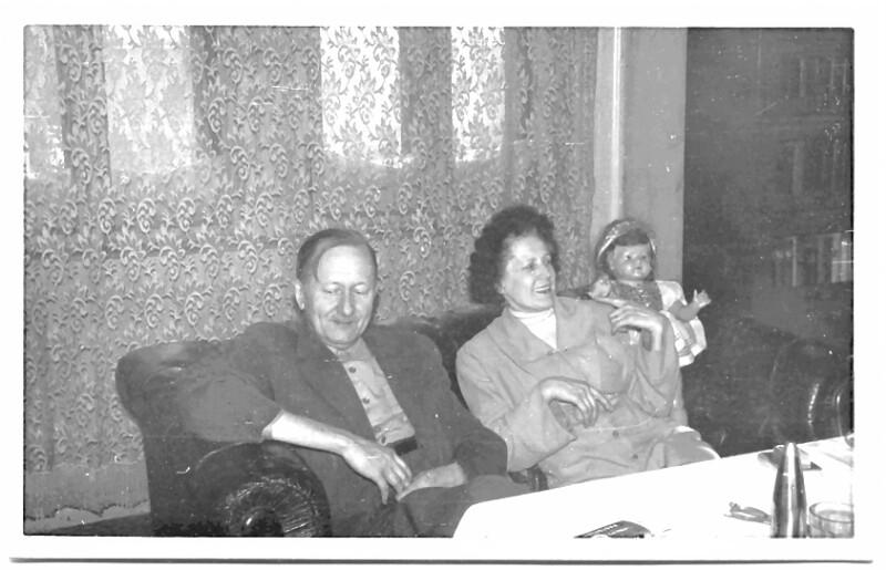 Sándor Szathmári mit Ehefrau, Budapest 1959