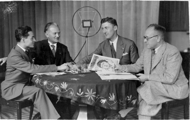 Esperanto-Kosmopoliten im MIRAG-Studio, Dresden 1931