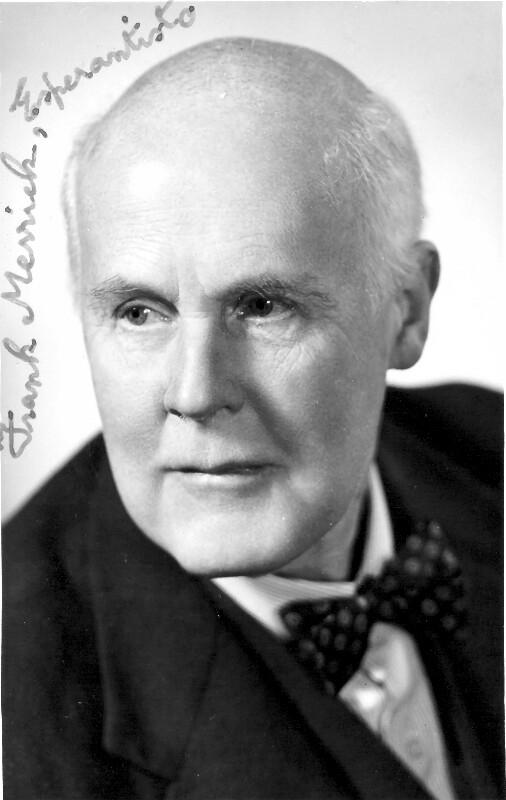 Frank Merrick, um 1950