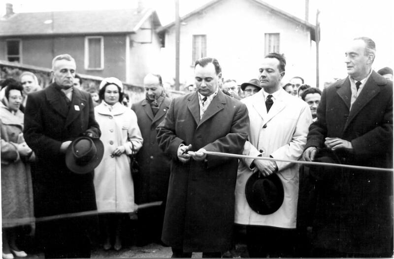 Einweihung der Rue Zamenhof in Bourg-de-Peage, 1959