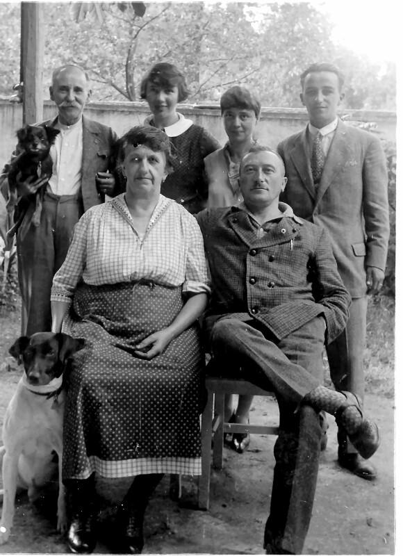 Josef Ekstein mit Gästen, Seebenstein um 1925