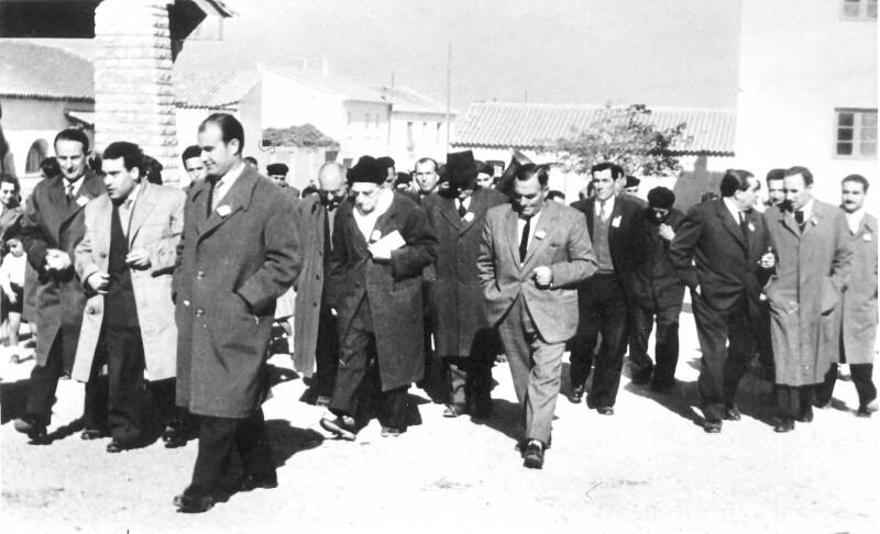 "Einweihung der ""Calle del Dr. Luis Lazaro Zamenhof"", Fuentes de Ebro 1959"
