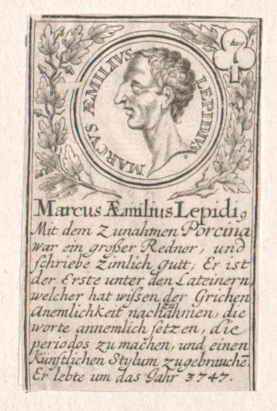 Aemilius, Lepidus Porcina, Marcus