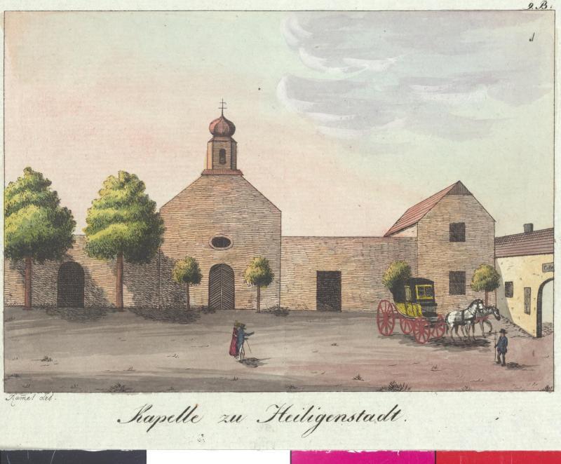 Ansicht der Kapelle zu Heiligenstadt