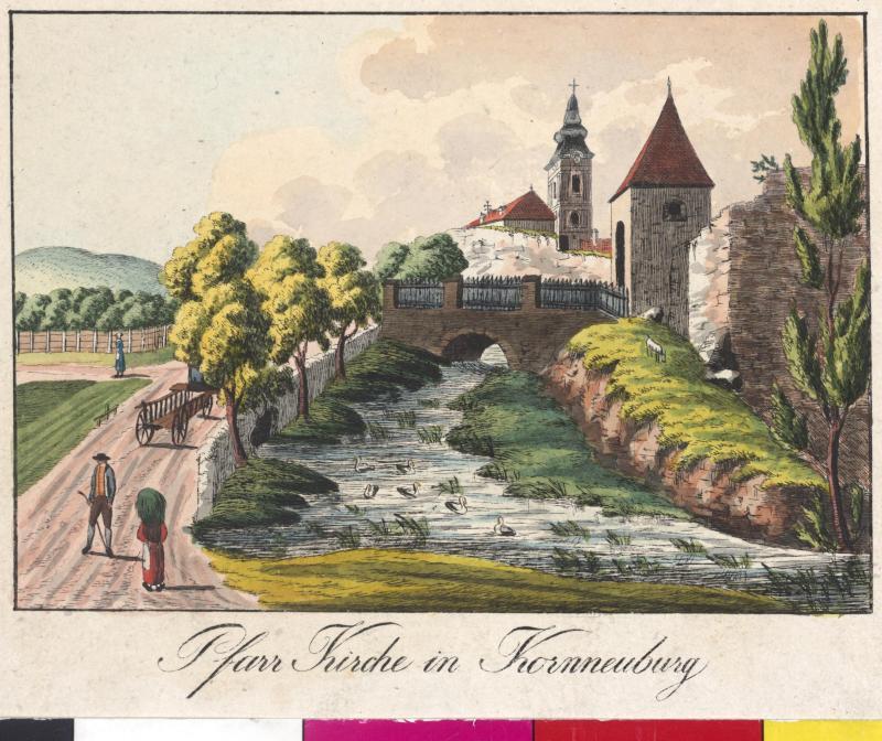 Ansicht der Pfarrkirche in Korneuburg