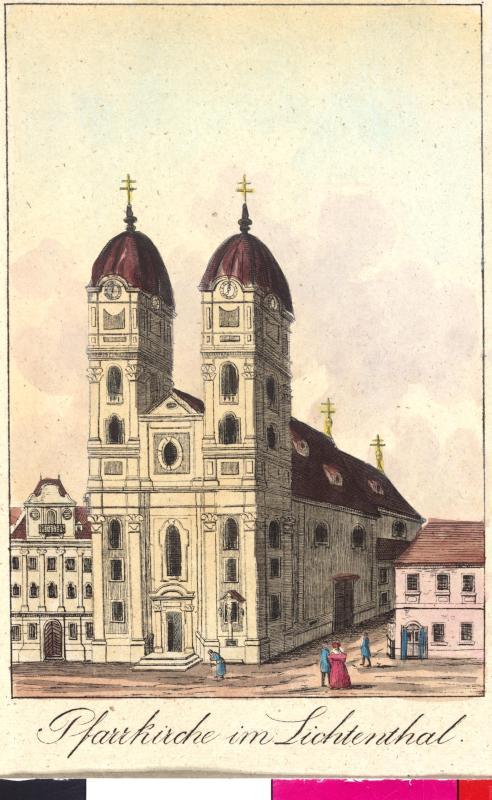 Ansicht der Pfarrkirche im Lichtental