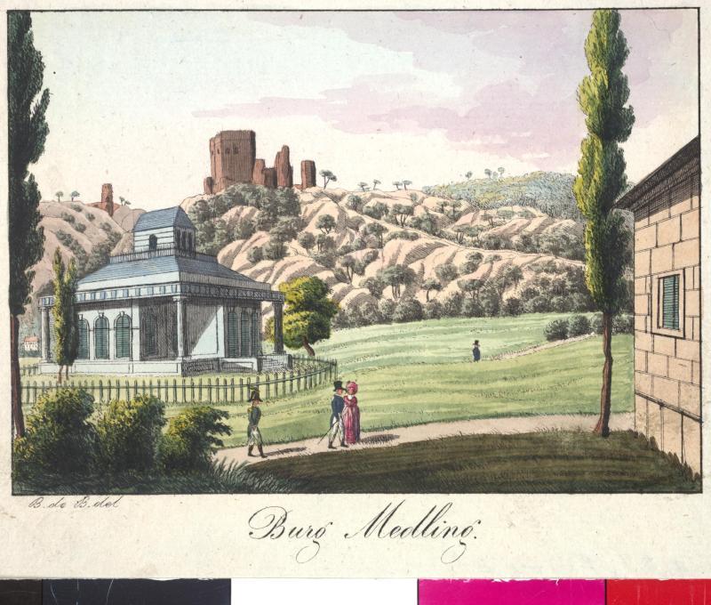 Ansicht der Burg in Mödling