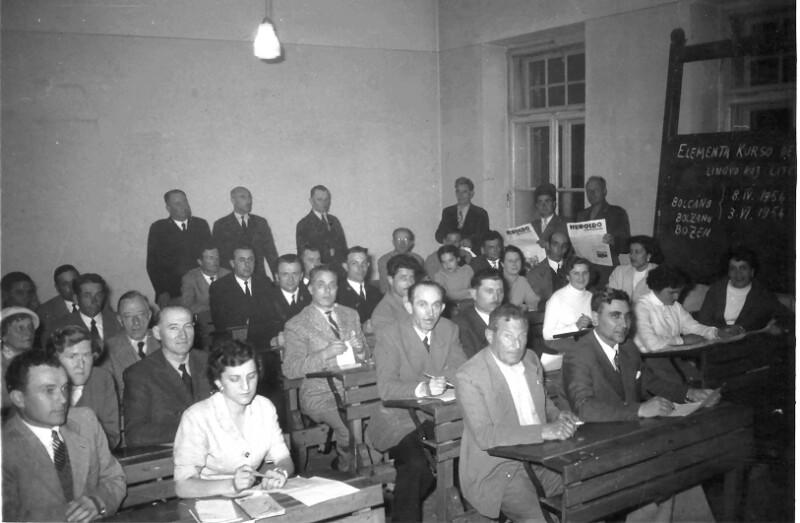 Esperanto-Kurs, Bozen 1954