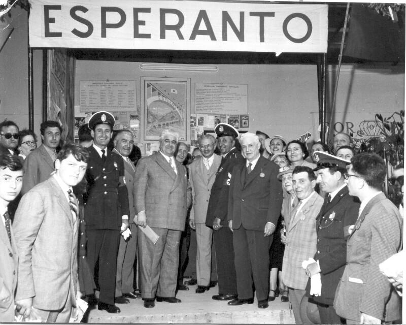 Esperanto-Tage während der 21. Messe in Bologna 1957