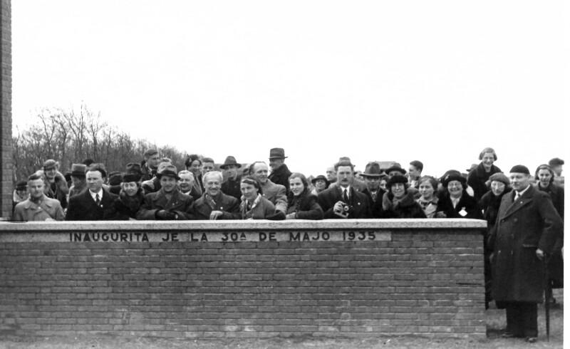 Einweihung des Esperanto-Denkmals Den Burg, 1935